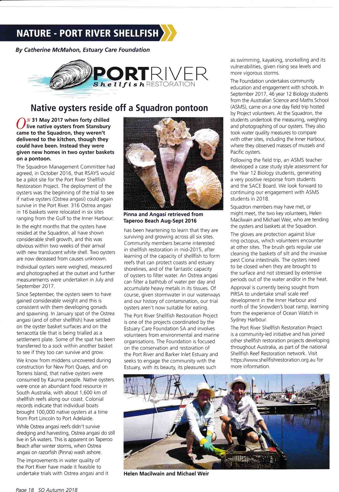 The article on page 18