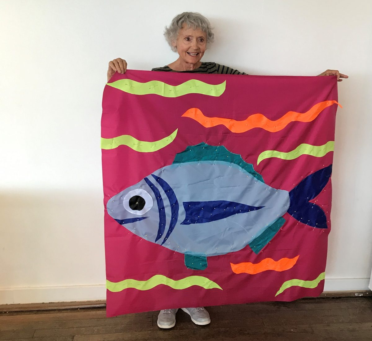 Flag of a bream, made for display at 2018 Tour Down Under