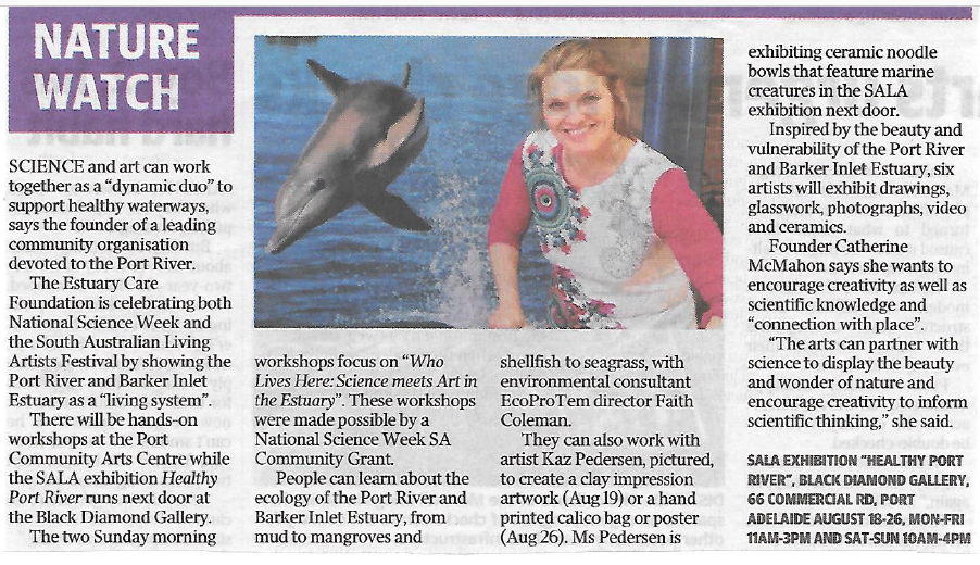 Nature Watch article in Advertiser17.8.18