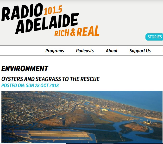 Radio Adelaide interview about Estuary Care Foundation 28.10.18