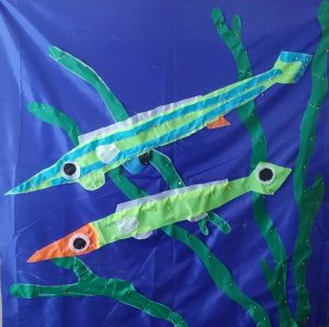 Pencil weed whiting flag for TDU - created by Melanie Little